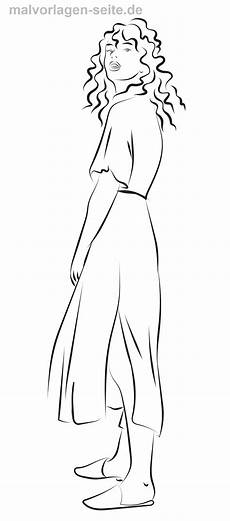 Malvorlagen Seite De Malvorlage Langes Kleid Kleidung Kostenlose Ausmalbilder