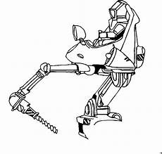 roboter mit bohrer ausmalbild malvorlage science fiction