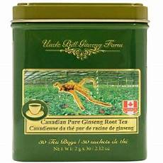 uncle bill canadian pure ginseng tea 30 teabags tin