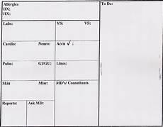icu nurse report template