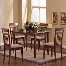 coaster fine furniture walnut 5 piece dining set with dining table at lowes com
