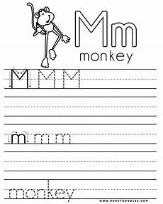 letter m handwriting worksheets 24300 letter practice m worksheets dorky doodles