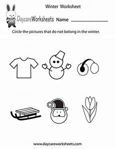 winter worksheets for kindergarten 19961 free preschool winter worksheet