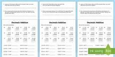 addition worksheets ks2 8918 decimals addition worksheet worksheet decimals decimals addition