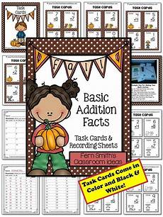 subtraction worksheets for ukg 10299 fall basic addition facts task cards recording sheets and answer task cards addition