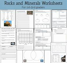 rocks and minerals unit study resource packet earth science lessons third grade science 4th