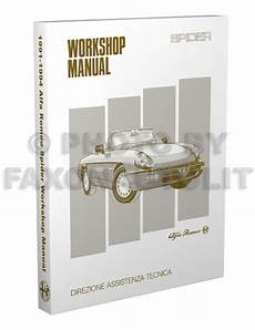 vehicle repair manual 1993 alfa romeo spider instrument cluster 1991 1994 alfa romeo spider repair shop manual reprint veloce