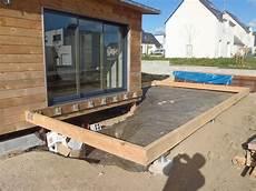 structure terrasse bois structure terrasse maison bois d annick et michel