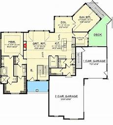 craftsman style house plans with walkout basement plan 89899ah craftsman ranch with walkout basement