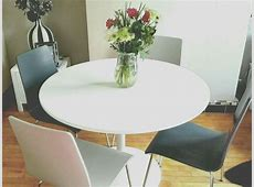 New JOHN LEWIS Large Round White Dining Kitchen Table with
