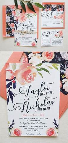 Cheap Coral Wedding Invitations pantone color of the year 2019 26 living coral wedding