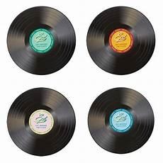 set de table vinyle mobilier table set de table disque vinyle