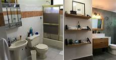Bathroom Before And After Modern by Before After This 90 S Bathroom Was Given An Updated