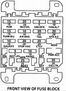 Solved Need A Fuse Panel Diagram For A 88 Cutlass Ciera