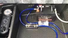 installation second battery for car audio custom 2010 dodge challenger srt8 youtube