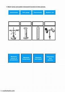 weather instruments worksheets 14579 weather instruments interactive worksheet