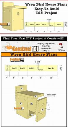 wren house plans wren bird house plans easy diy project bird house