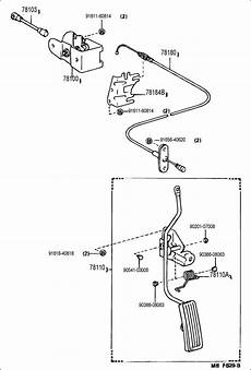 85 toyota 4runner efi wiring diagram 1986 toyota 4runner deluxe 2400cc efi manual 5 speed wire assy accelerator cable assy