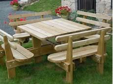 Table De Jardin En Bois Avec Banc Integre Plan Pour