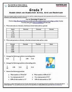 ratios rates and percentages worksheet for 6th grade lesson planet