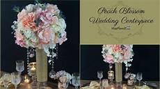 diy tall peach blossom wedding centerpiece diy wedding