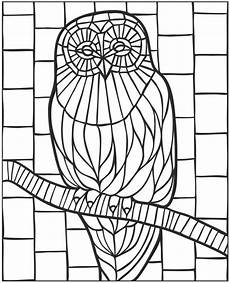 Malvorlage Eule Bunt Owl Coloring Page Sting
