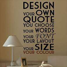 wall sticker design your own large create your own custom wall quote design