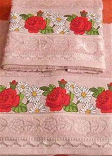 punto croce asciugamani bagno come decorare un asciugamano da bagno a punto croce arte