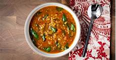 rote linsensuppe indisch indian lentil soup with spinach a modest feast