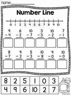 number lines cut and paste addition and subtraction