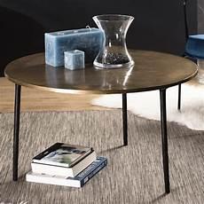 table basse vintage ronde dor 233 80 cmavec pieds m 233 tal elegance