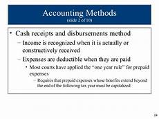 cash receipts and disbursements method of accounting ppt ch