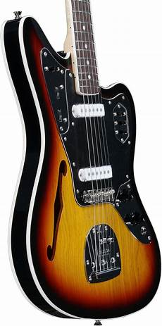 fender jaguar fender jaguar thinline special edition 3 tone sunburst