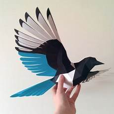 how to make a 3d bird model flying bird paper model bird paper craft paper animals paper birds diy
