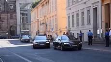 Vip Eskorte Motorcade German Chancellor Car Bodyguard