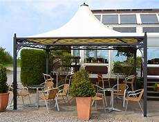 Gartenpavillon Metall 4x4 - pavillon wetterfest auf einer terrasse