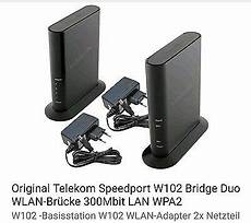 Telekom Wlan Bridge Speedport W 102 Bridge Duo
