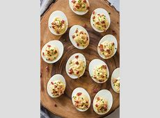 spicy bacon devilled eggs_image