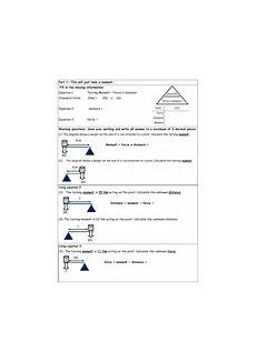 moments and levers full lesson with worksheet with answers teaching resources