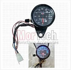 jual rpm speedometer kilometer bulat custom variasi jarum led plus indikator sein sen lu