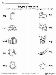 rhyming words match rhyming worksheets pinterest