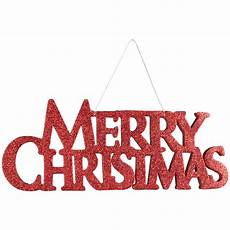 13 5 quot glitter merry christmas sign 260704 craftoutlet com