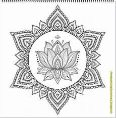 Ausmalbilder Kostenlos Ausdrucken Erwachsene Zeichnung Zu T Towierung Lotus Und Mandala Lotus Mandala