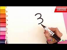 Pintar Cara Menggambar Monyet Lucu Dari Angka 3 Tiga