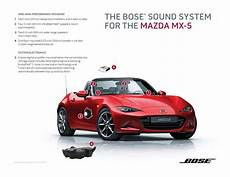 for 2016 the mazda mx 5 s sound system is tailored for