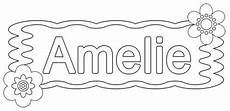 kostenlose malvorlage beliebte m 228 dchennamen amelie zum