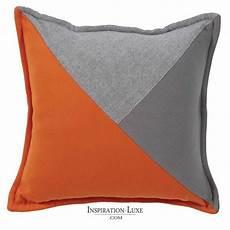 coussin orange et marron coussin prestige orange et gris 45 x 45 cm