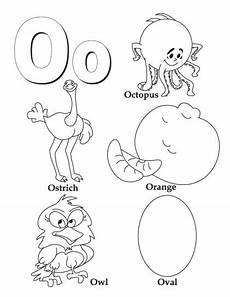 letter o kindergarten worksheets coloring page
