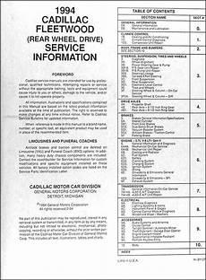 car engine manuals 1993 cadillac fleetwood engine control 1994 cadillac fleetwood and brougham shop manual 94 original repair service book ebay