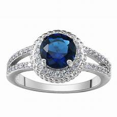 royal blue wedding rings top quality luxury engagement paved jewelry cheap and fashion